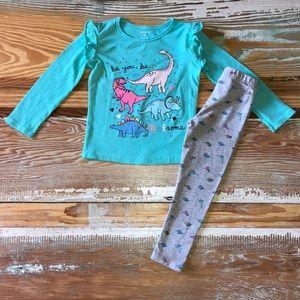 Carter's Toddler Girls Dinosaur 2pc. Outfit